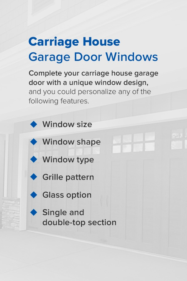carriage house garage door windows